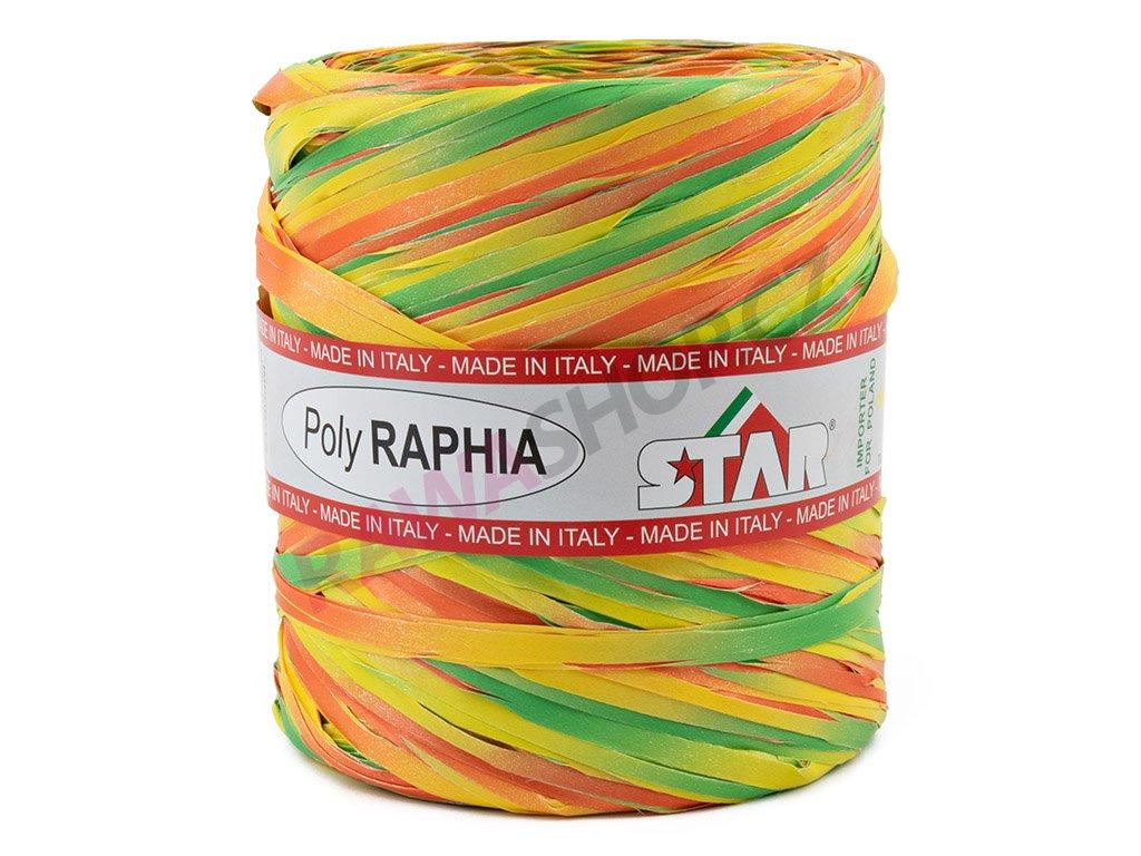Lýko Poly Raphia - žluto-oranžovo-zelená