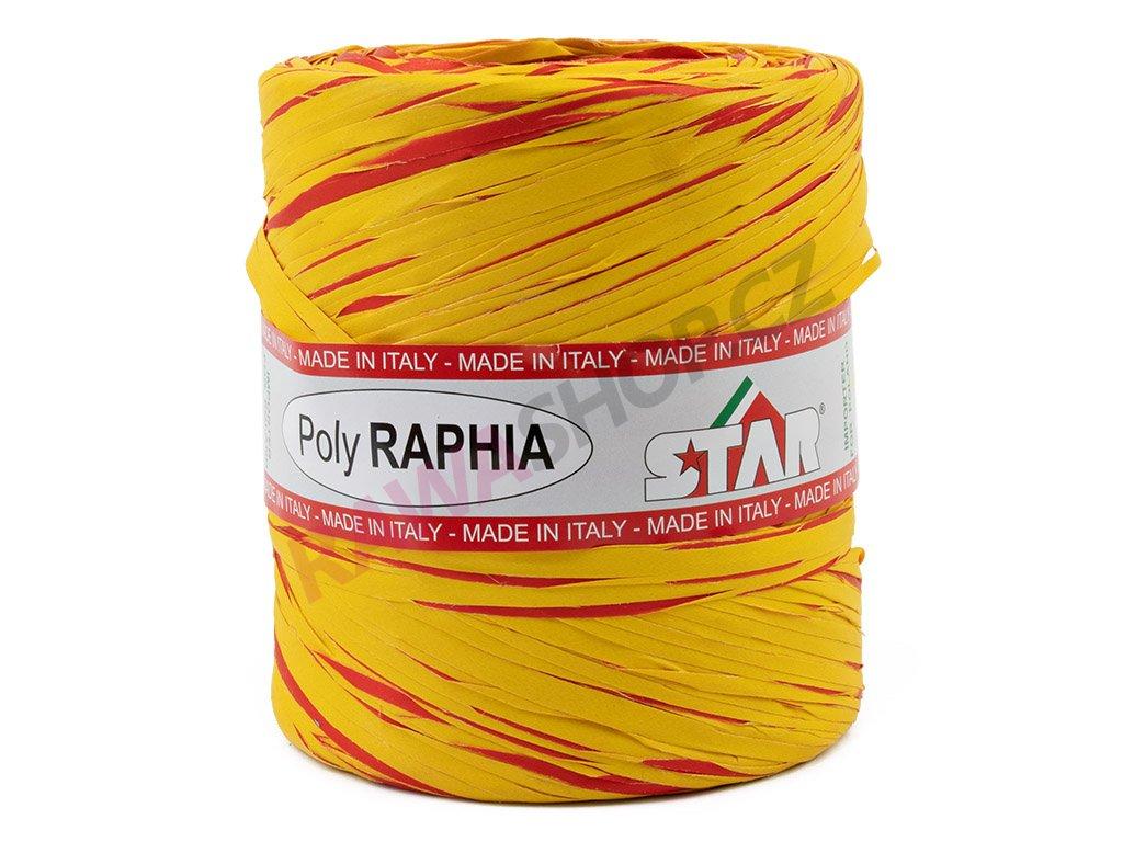 Lýko Poly Raphia - žluto-červená