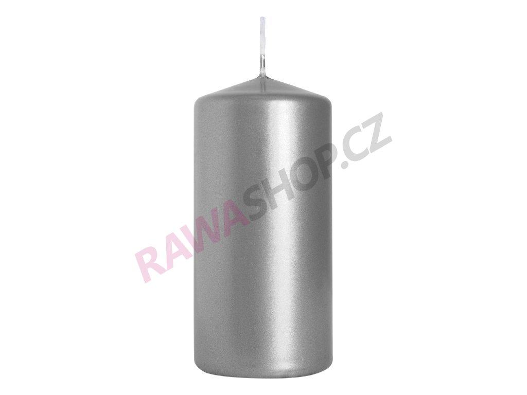 27. Svíčka válec 50 100 stříbrná BSW50100 271