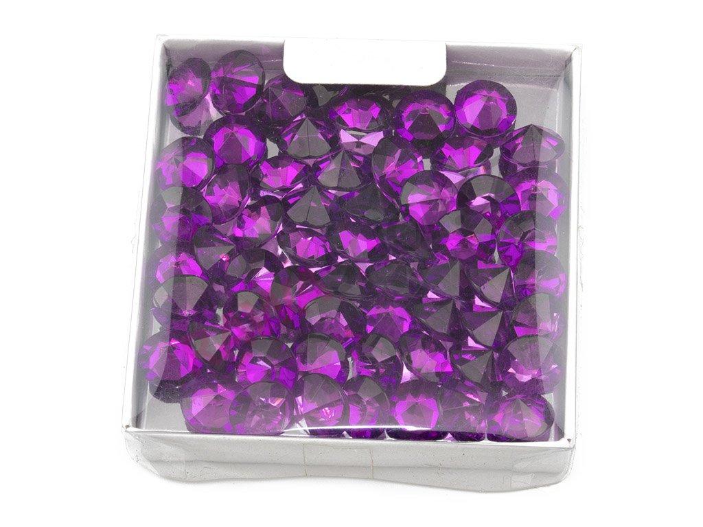 Diamanty ∅ 1cm - tmavě fialová