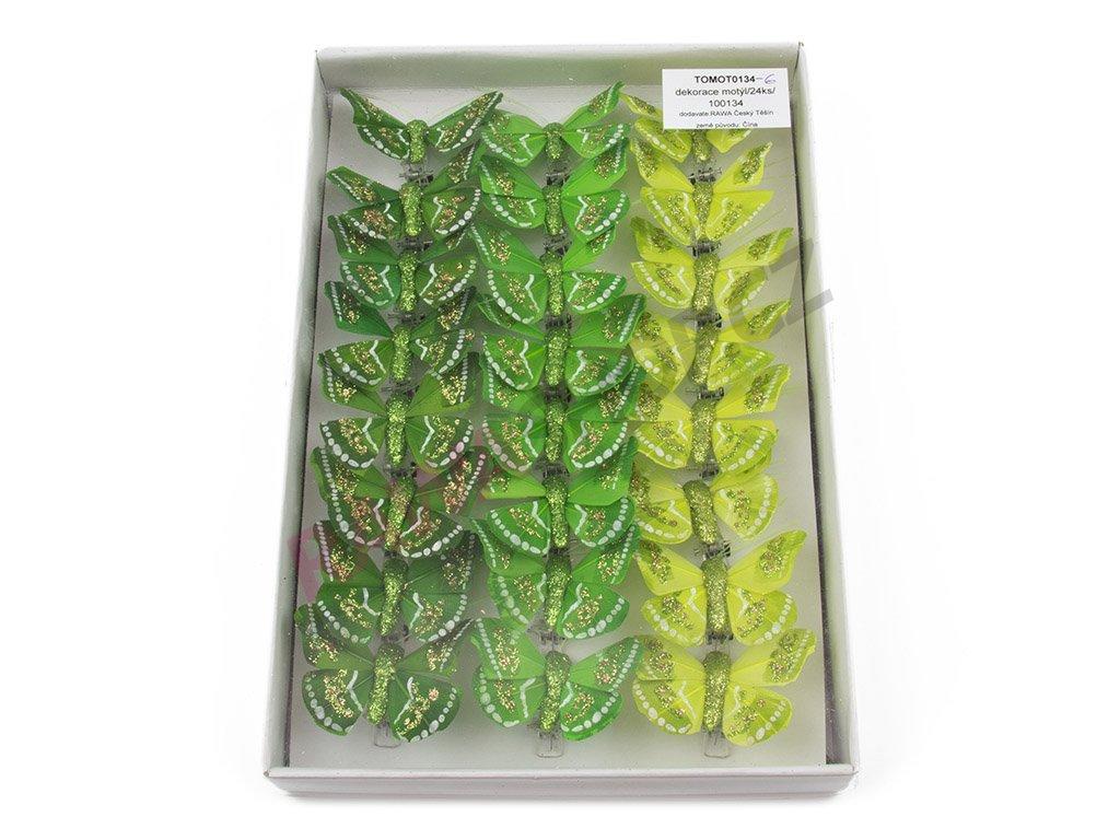 Motýlci 24ks - zelená