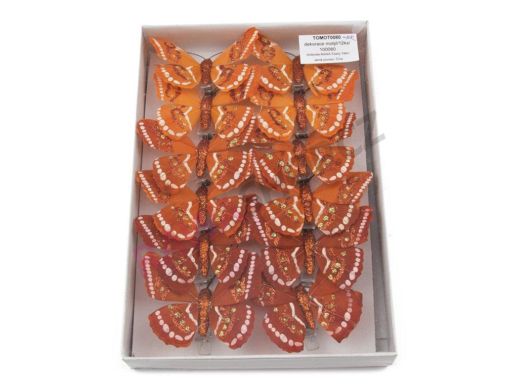 Motýlci 12ks - bronzová