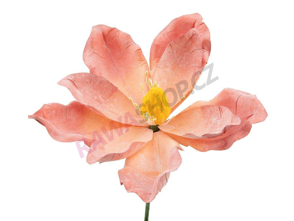 Latexová květina - oranžová