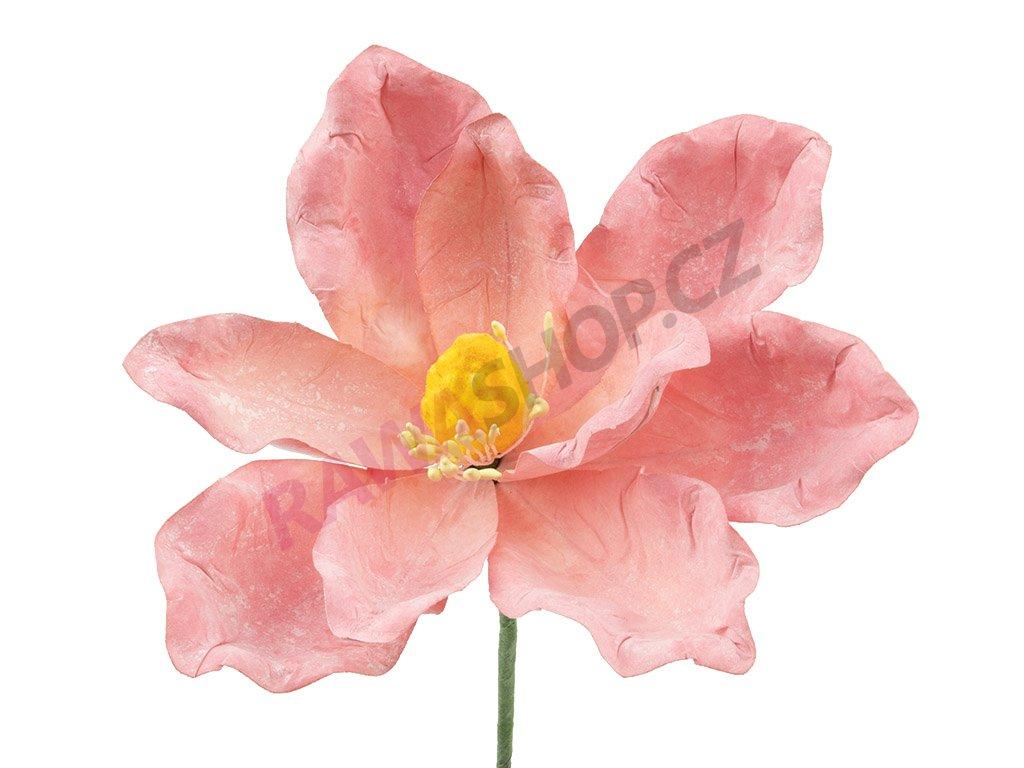Latexová květina - růžová