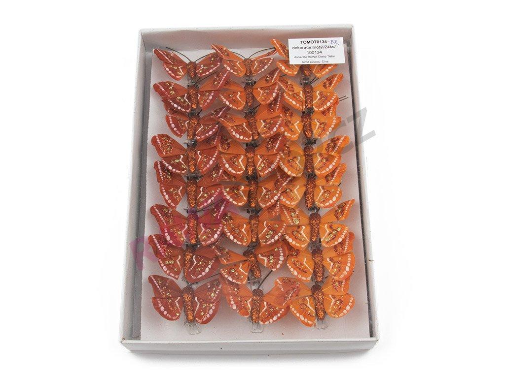 Motýlci 24ks - bronzová