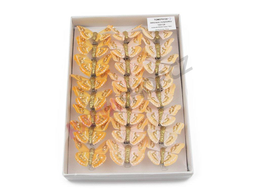 Motýlci 24ks - žlutá