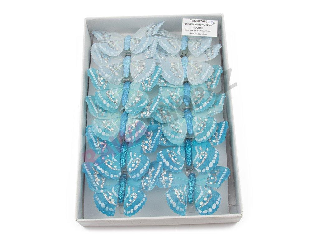 Motýlci 12ks - modrá
