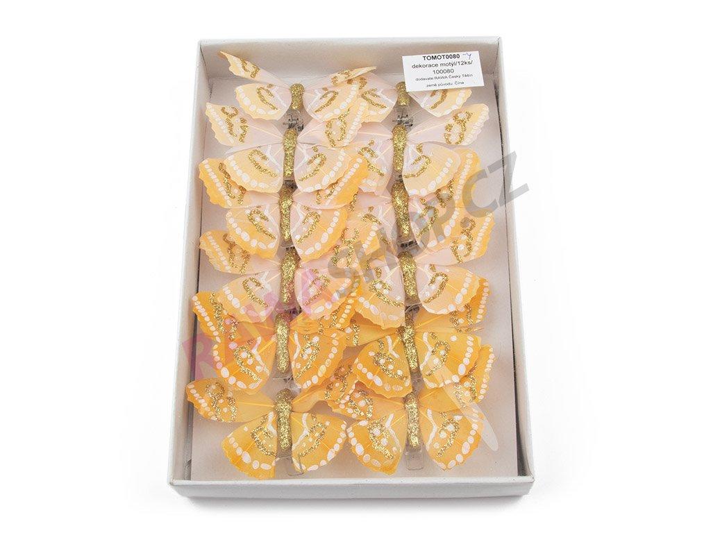 Motýlci 12ks - žlutá