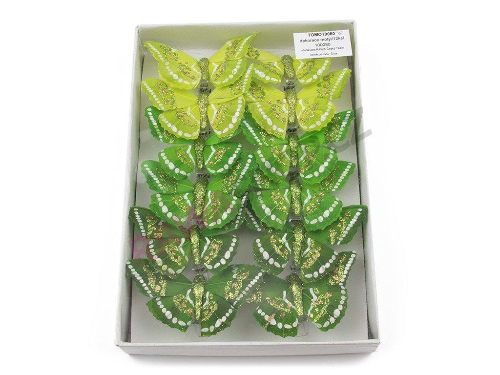 Motýlci 12ks - zelená