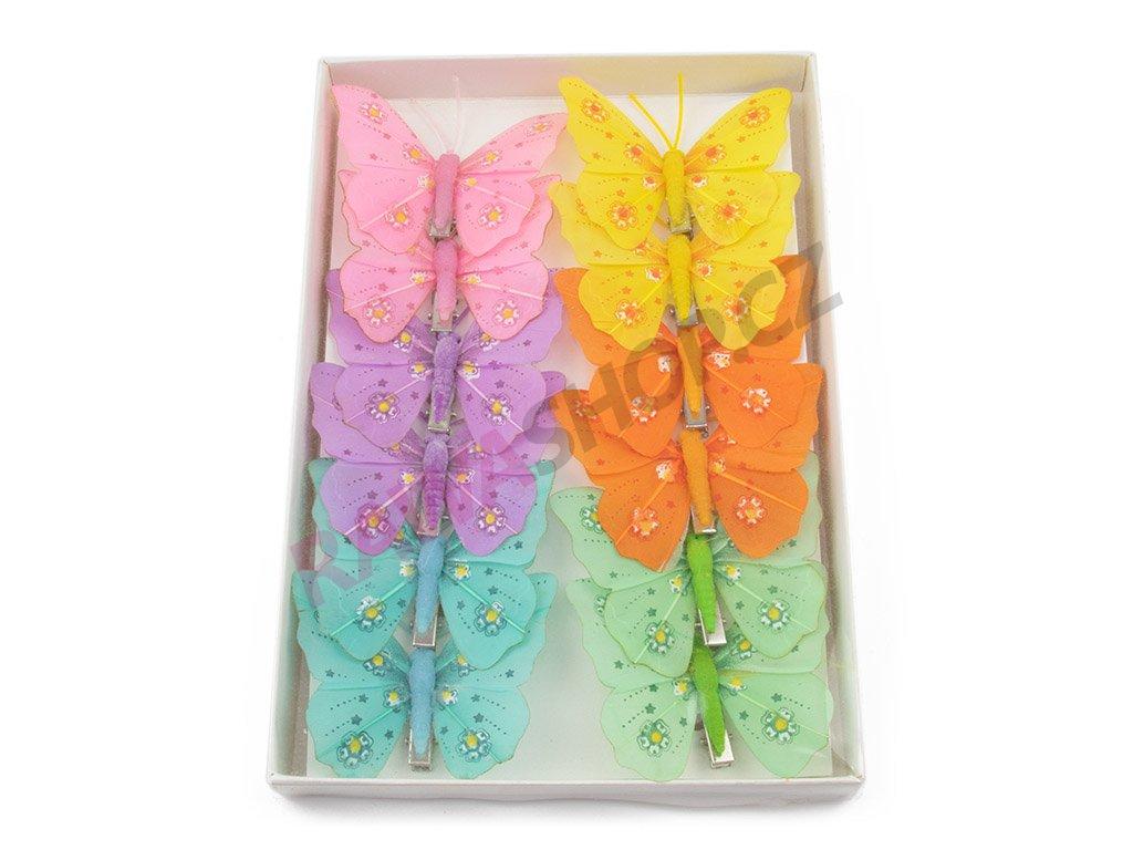 Motýlci 12ks - Květinka