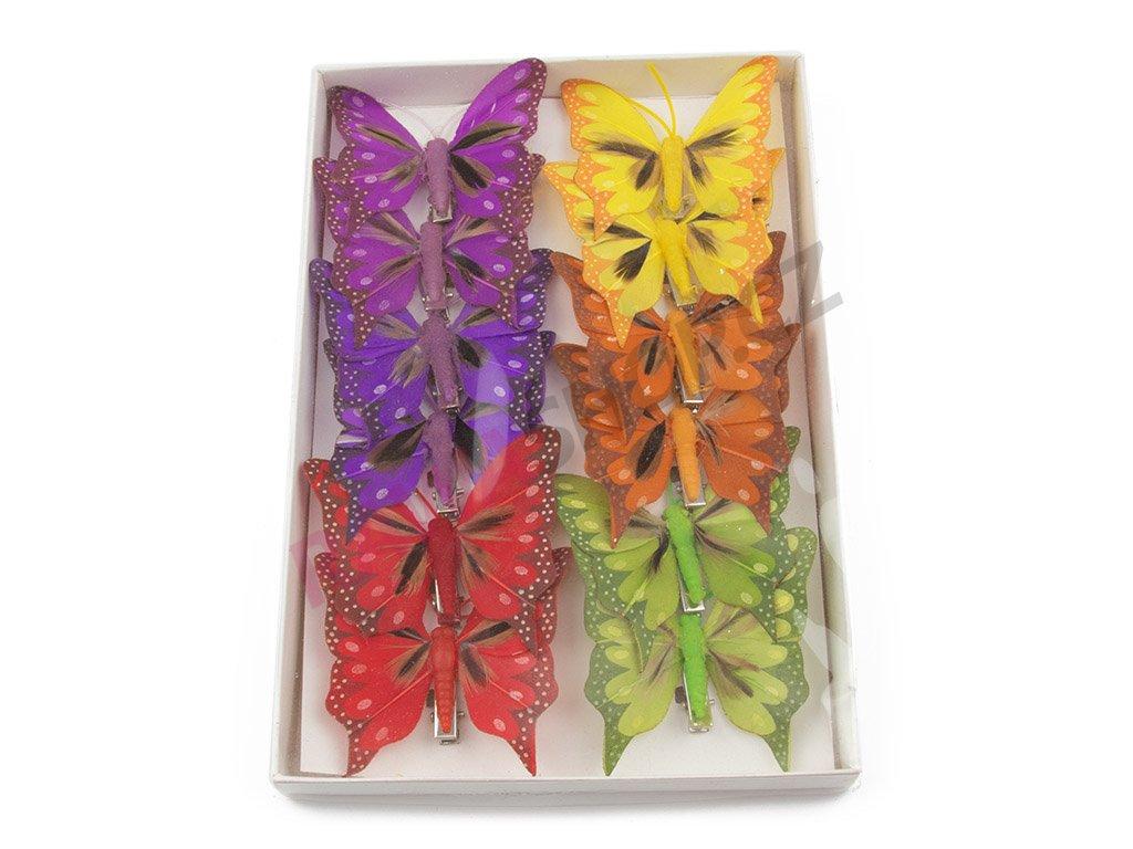 Motýlci 12ks - s peřím