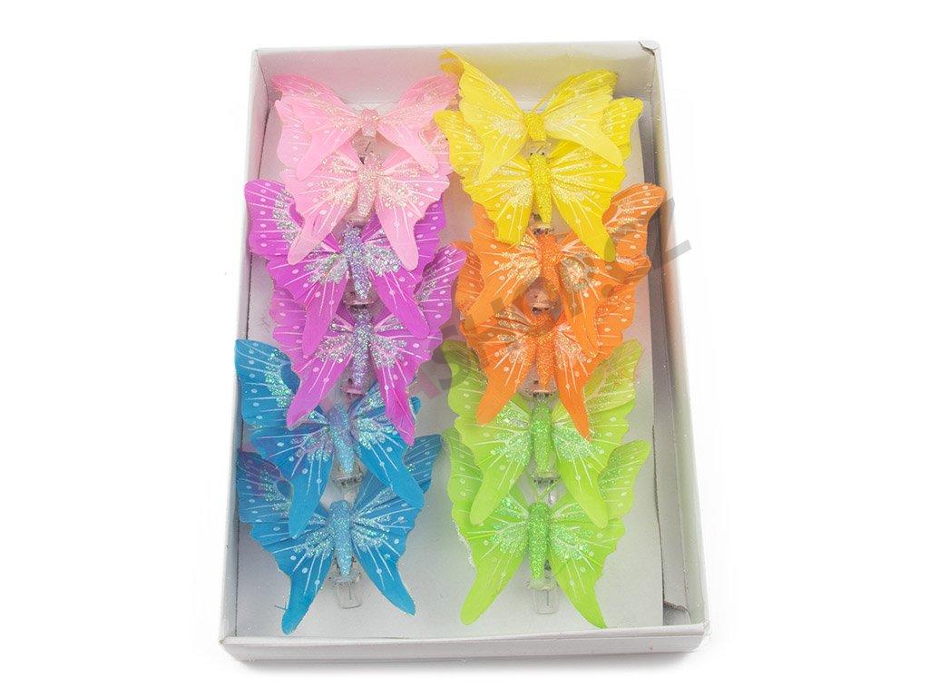 Motýlci 12ks - s třpytky