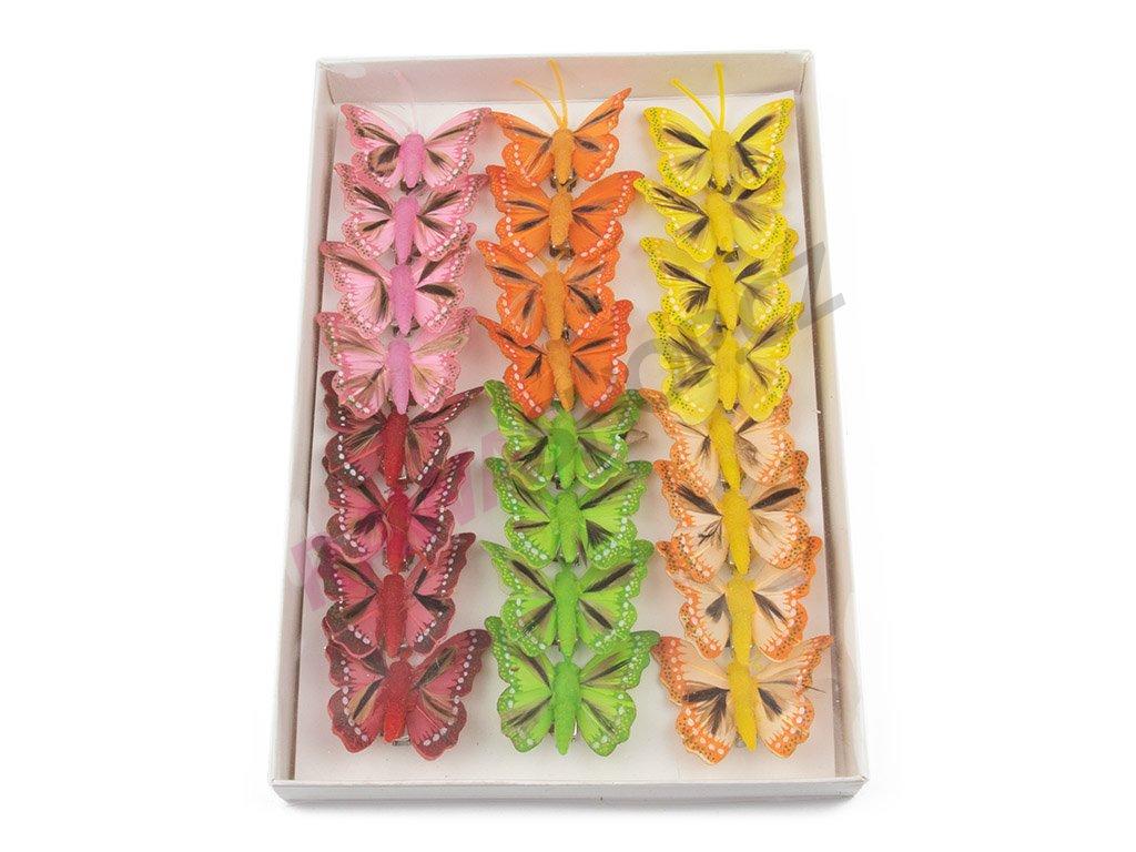 Motýlci 24ks - s peřím 1