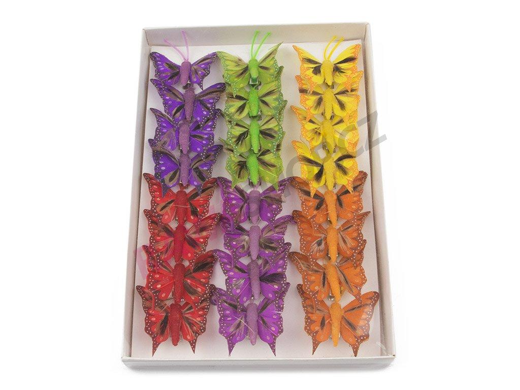Motýlci 24ks - s peřím 2