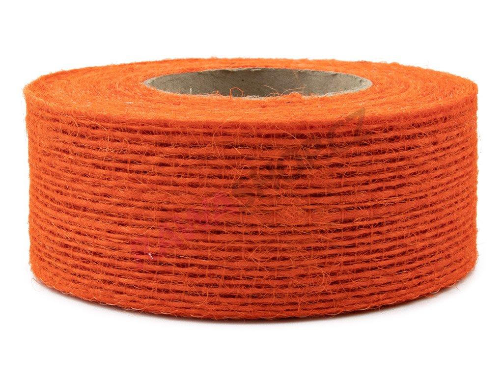 Juta jemná 4cm - tmavě oranžová