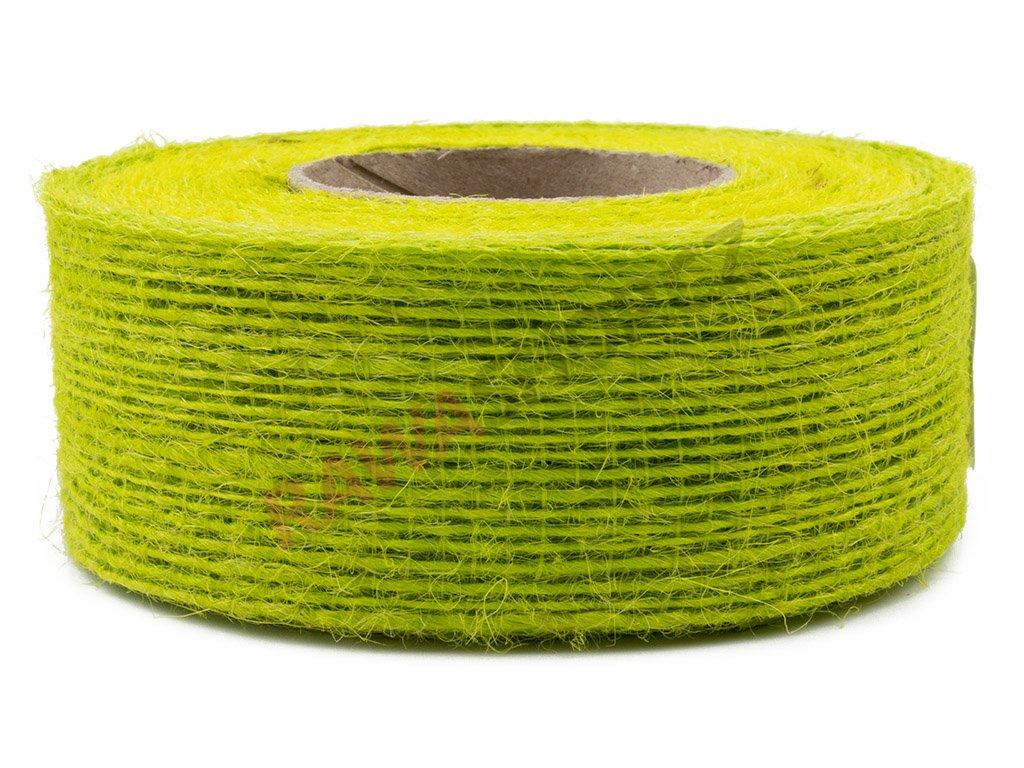 Juta jemná 4cm - zelená seledyn