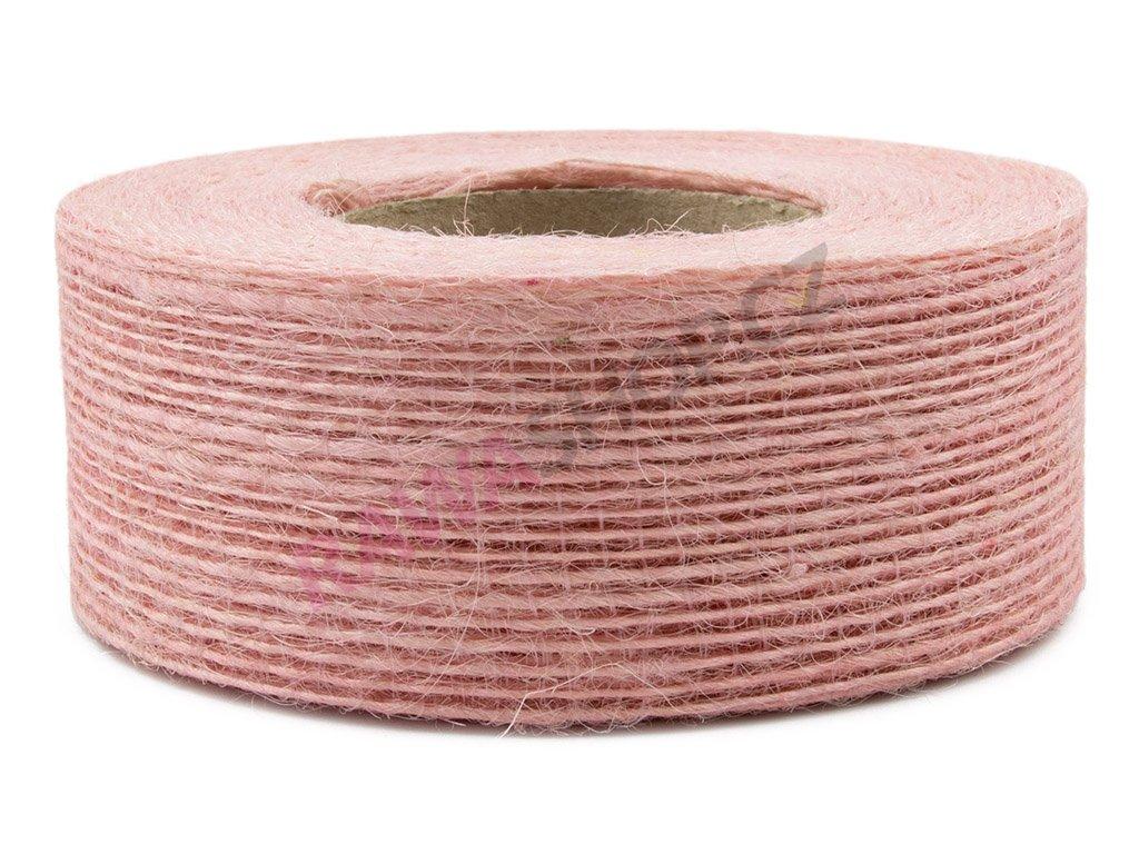 Juta jemná 4cm - světle růžová