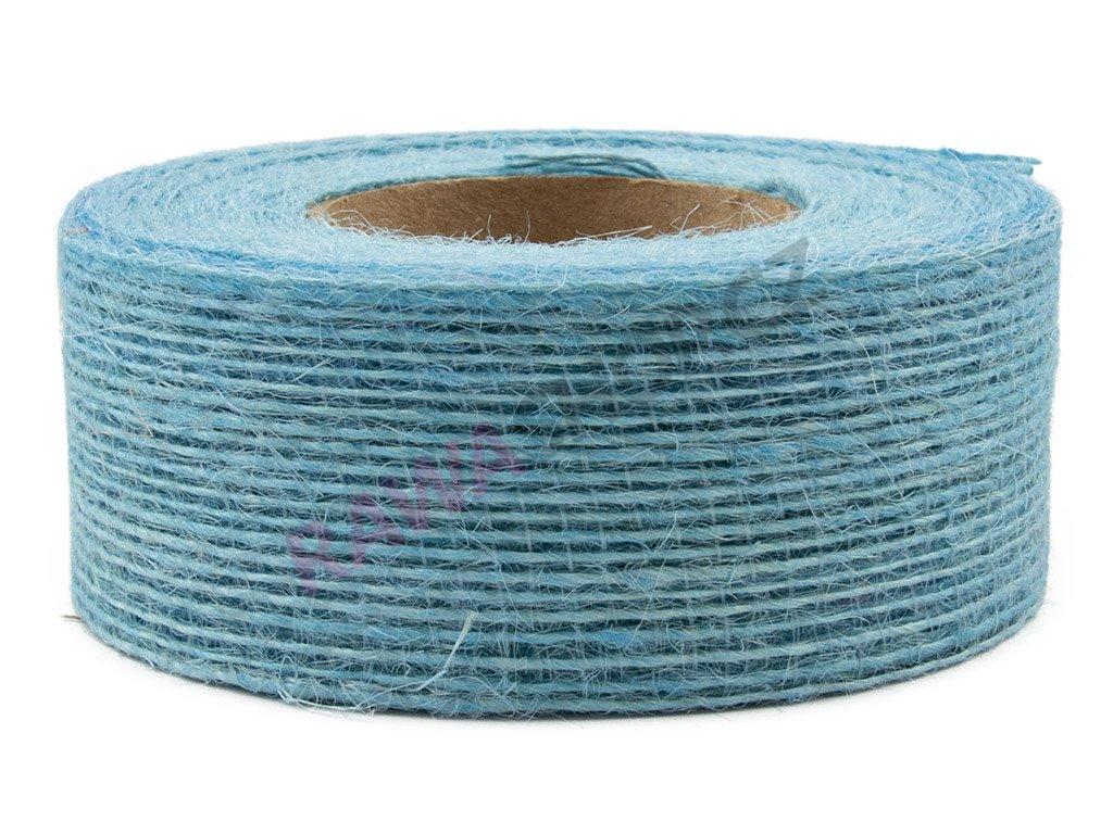 Juta jemná 4cm - modrá