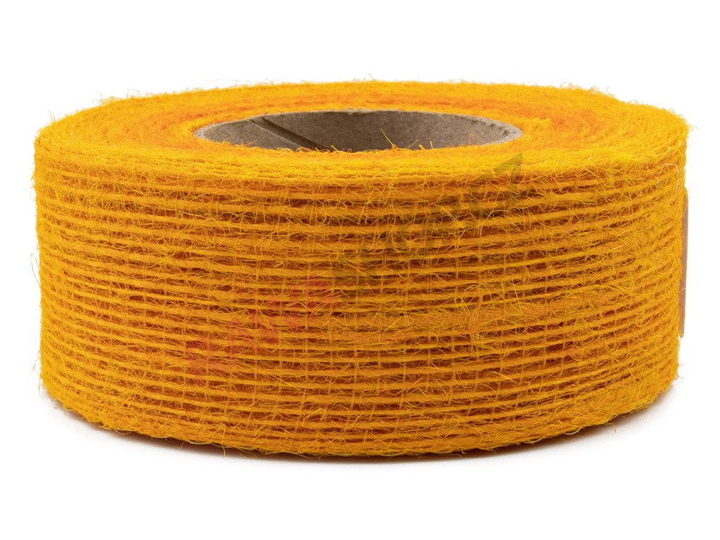 Juta jemná 4cm - oranžová