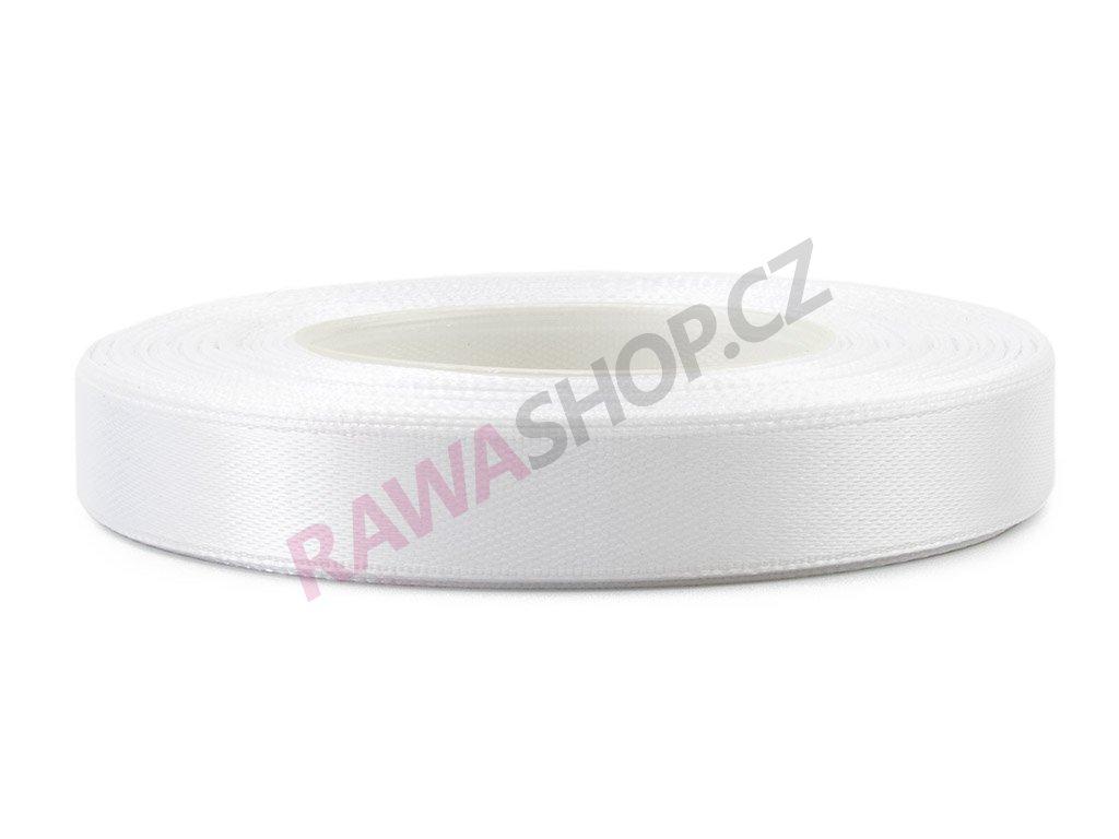 Saténová stuha 1,2cm - white