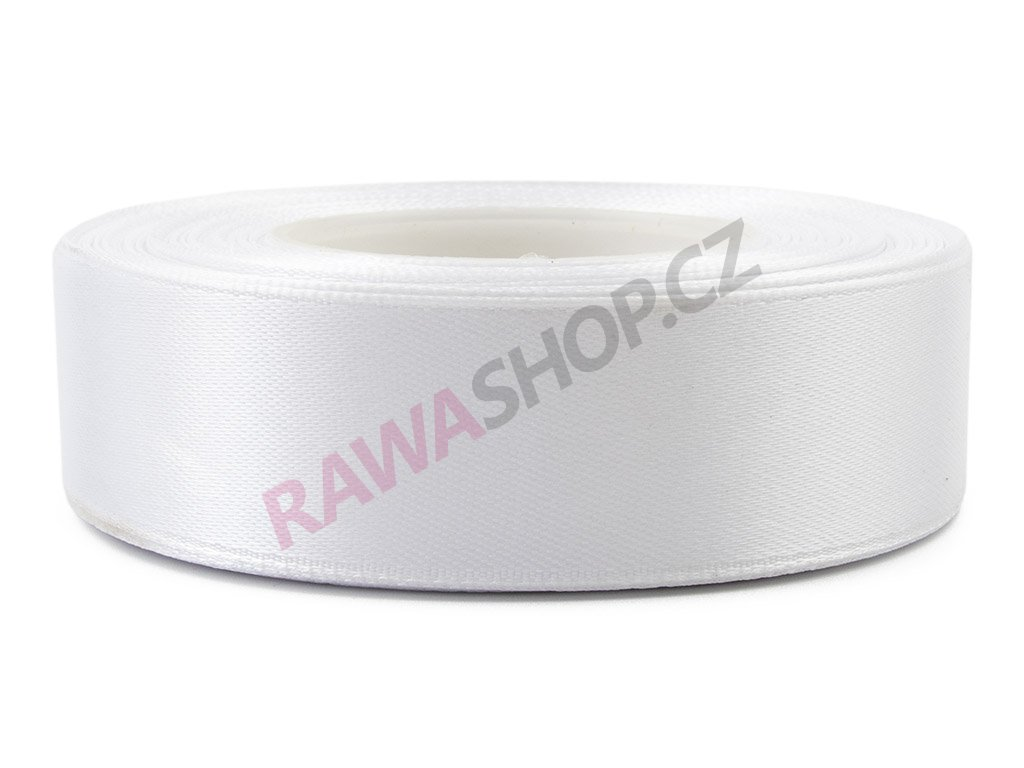 Saténová stuha 2,5cm - white