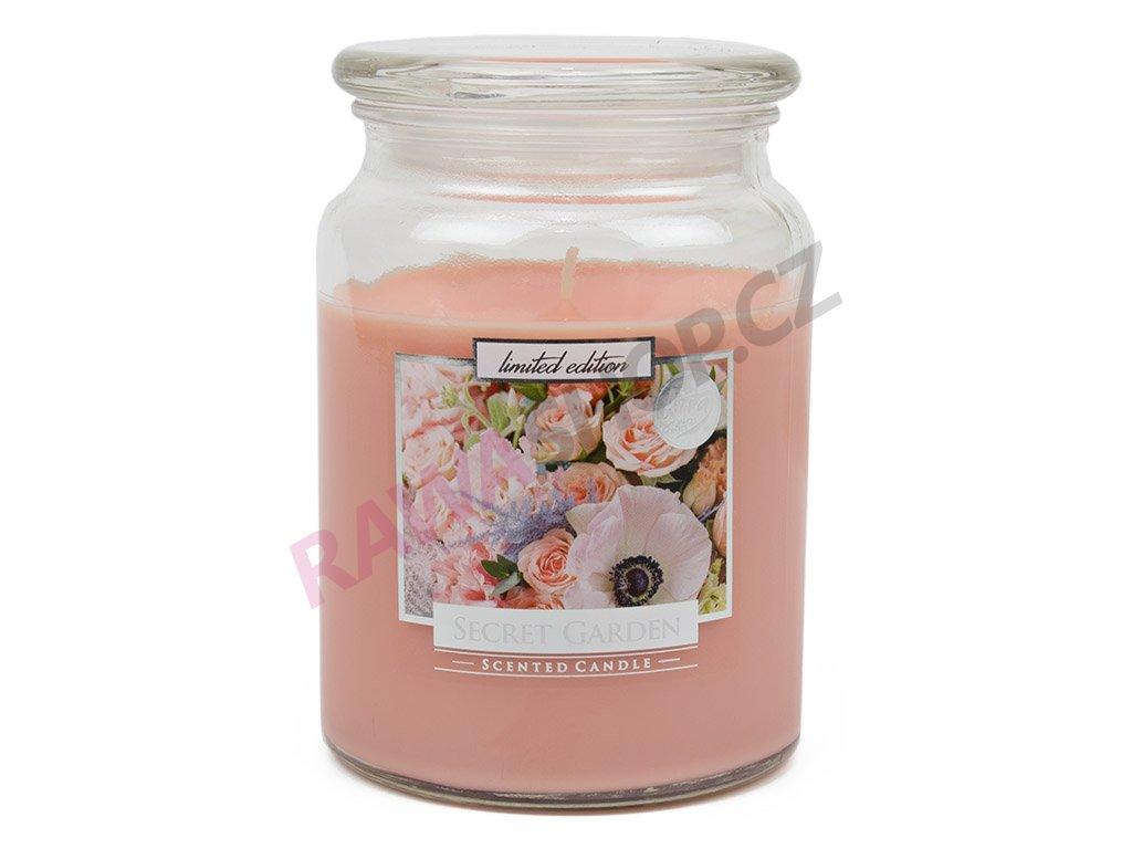 Svíčka s víčkem - Secret garden