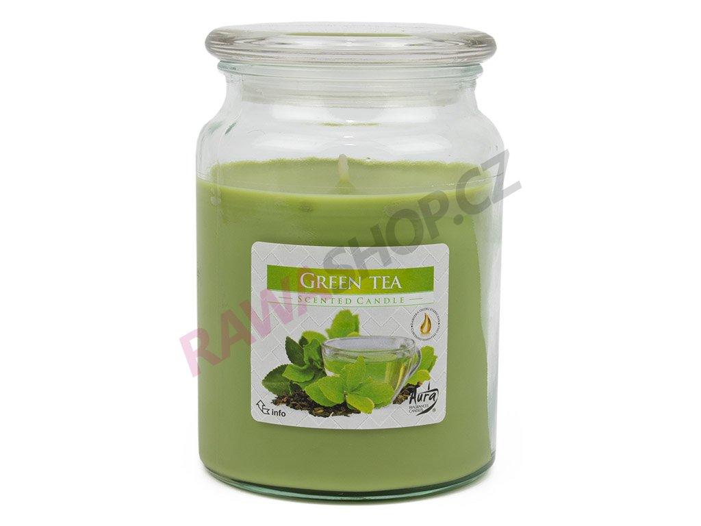Svíčka s víčkem - Green tea
