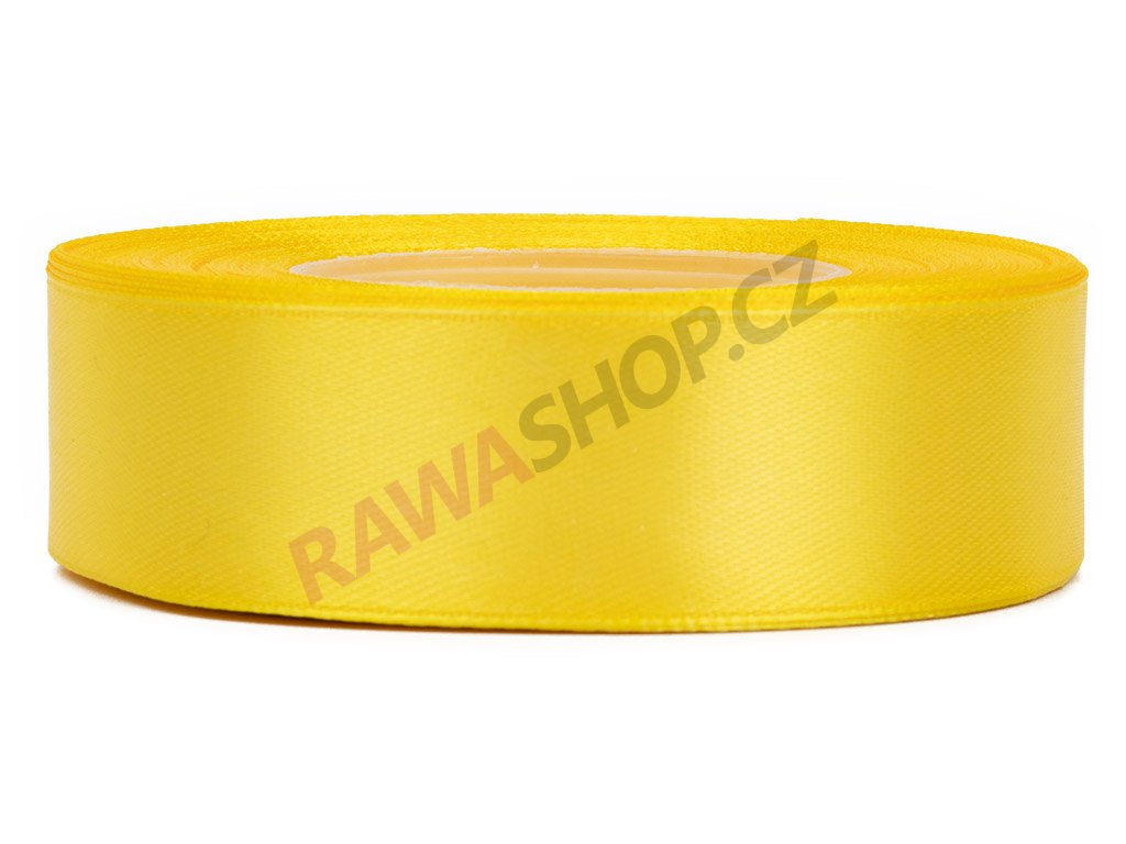 Saténová stuha 2,5cm - yellow
