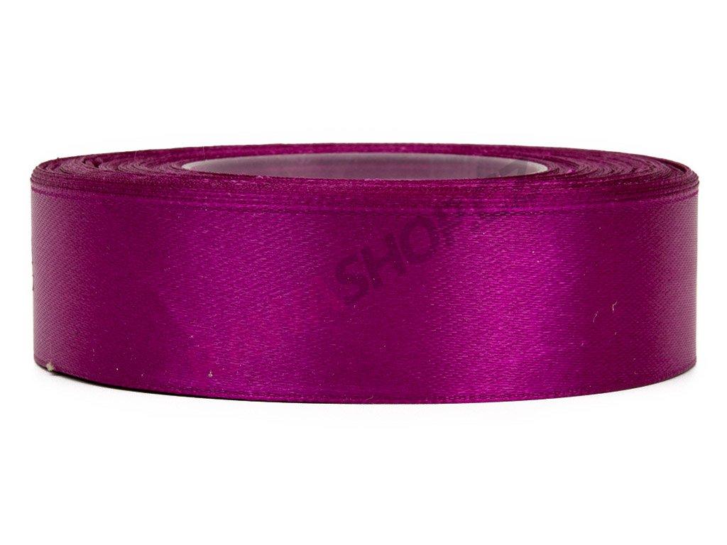 Saténová stuha 2,5cm - dark purple