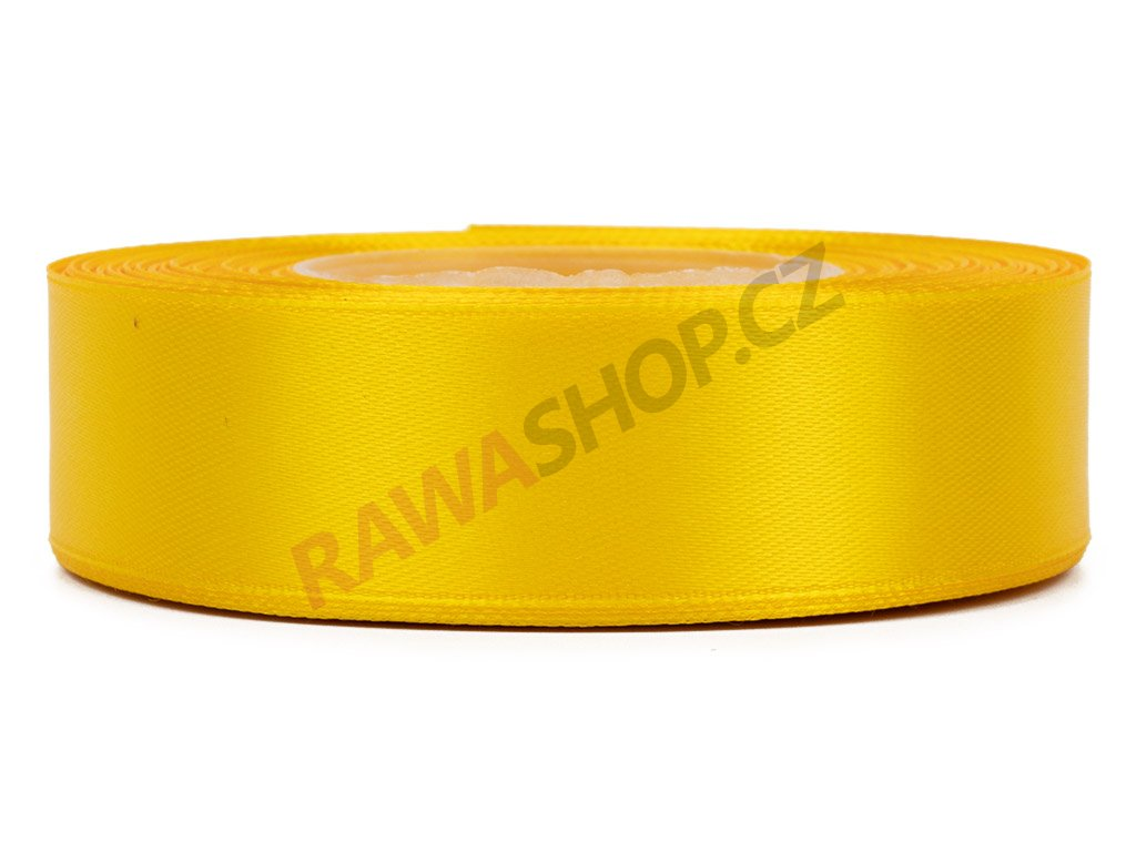 Saténová stuha 2,5cm - dark yellow