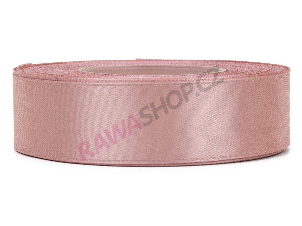 Saténová stuha 2,5cm - autumn pink