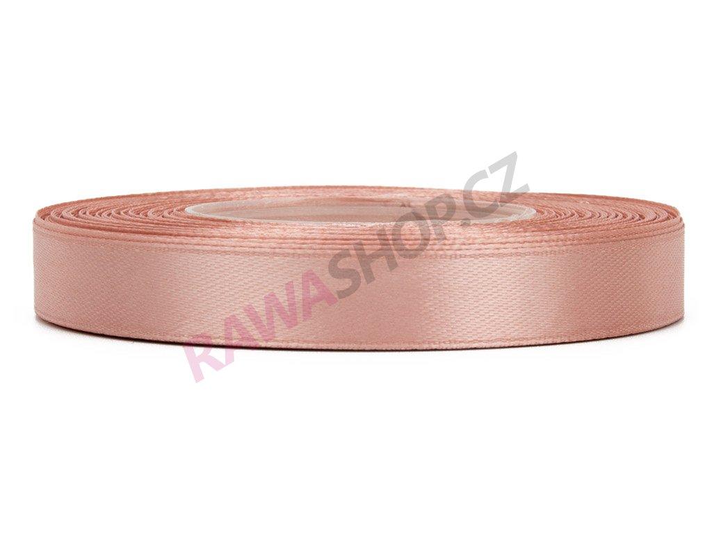Saténová stuha 1,2cm - autumn pink