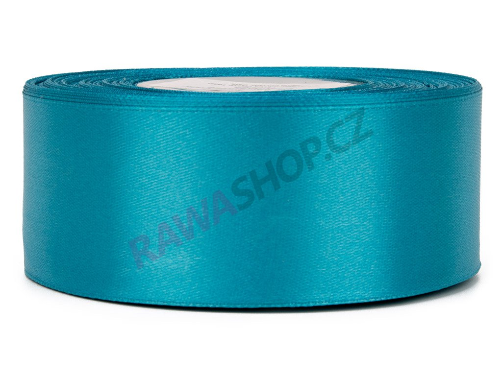 Saténová stuha 3,8cm - dark turquoise