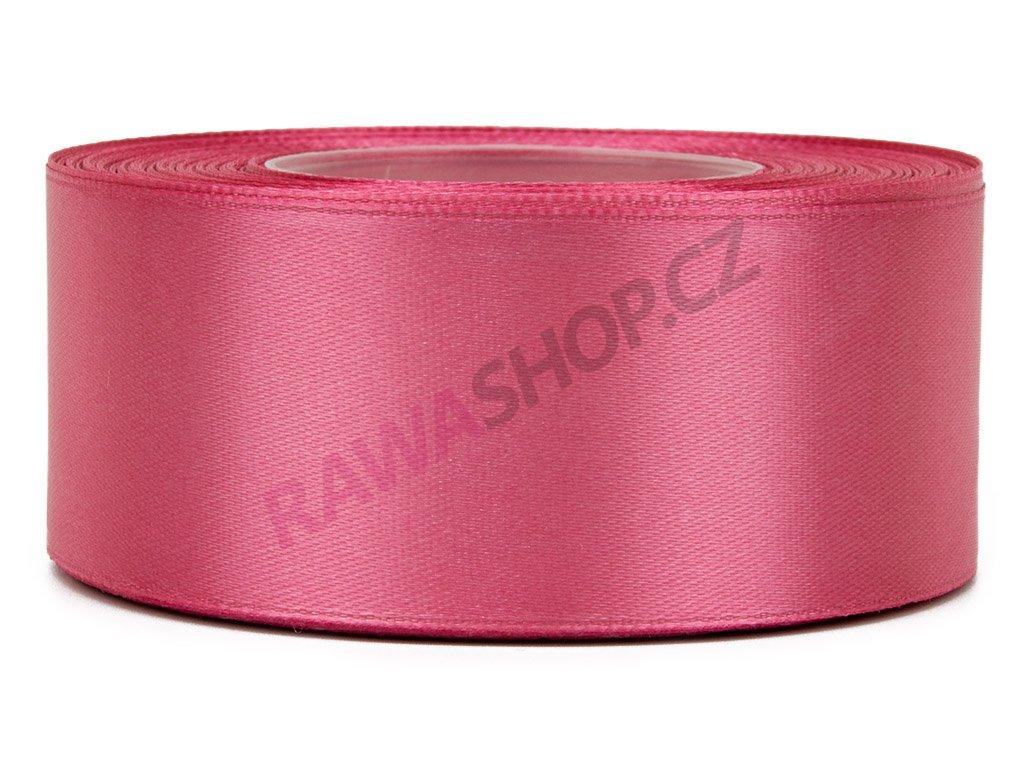 Saténová stuha 3,8cm - indian pink