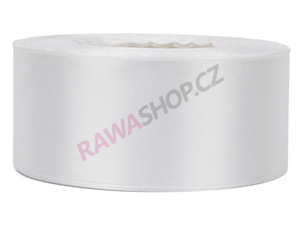 Saténová stuha 3,8cm - white