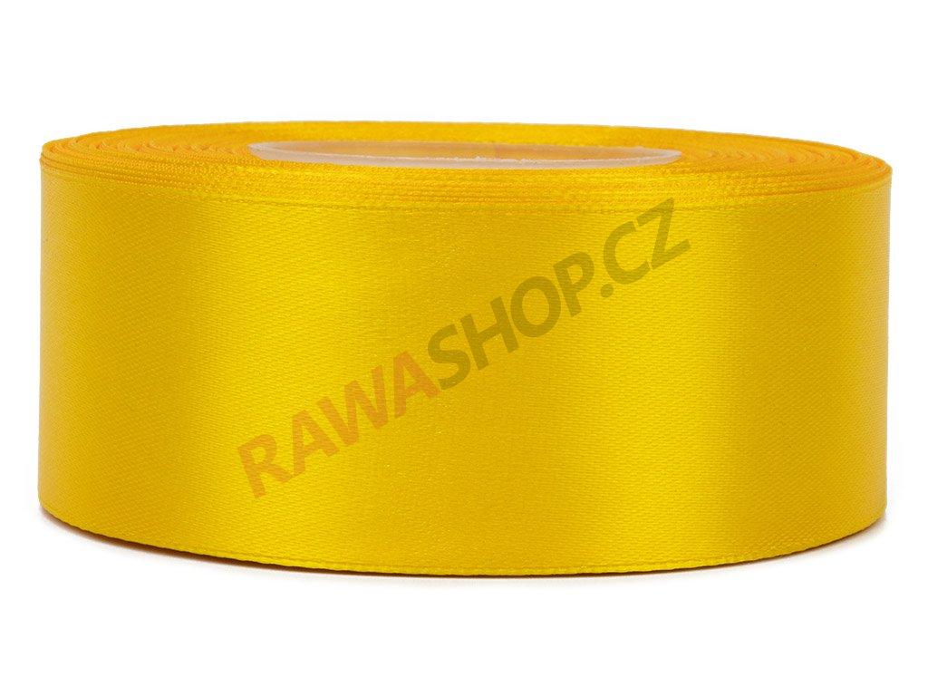 Saténová stuha 3,8cm - dark yellow