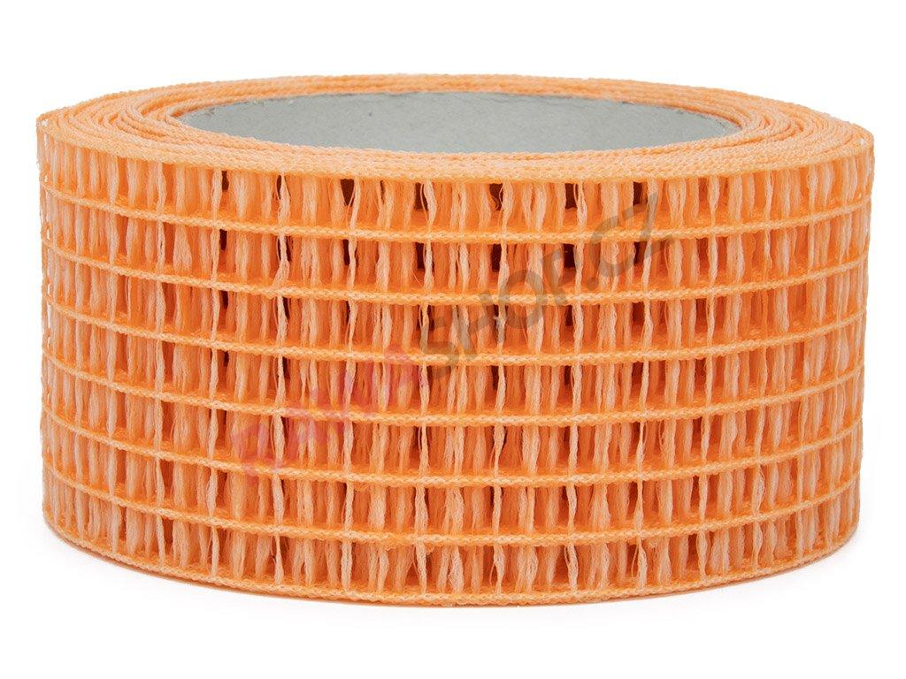 Děrovaná stuha 5cm - světle oranžová