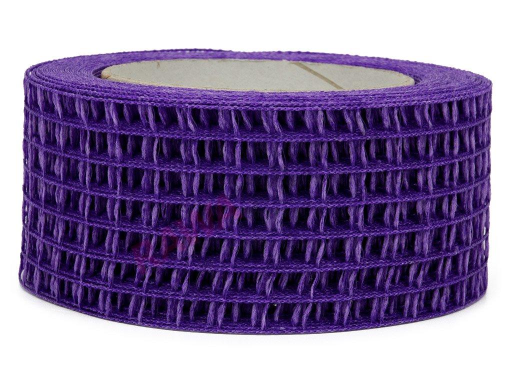Děrovaná stuha 5cm - fialová