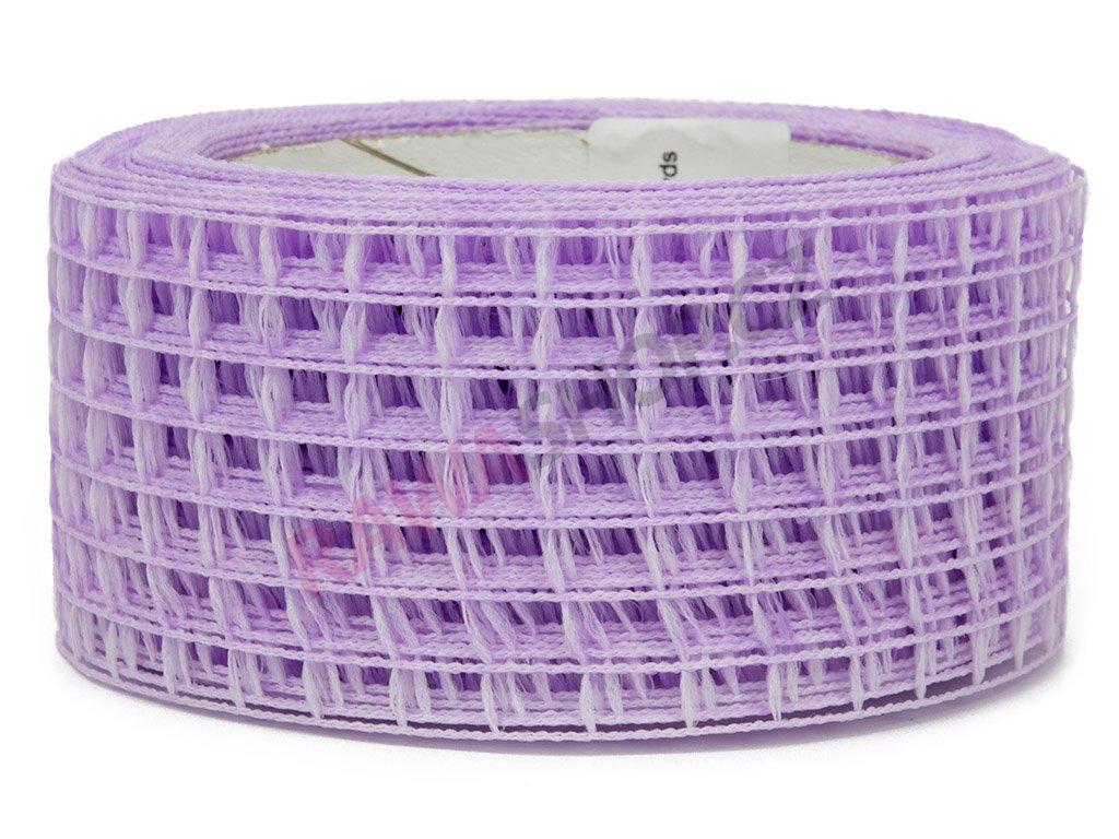 Děrovaná stuha 5cm - světle fialová