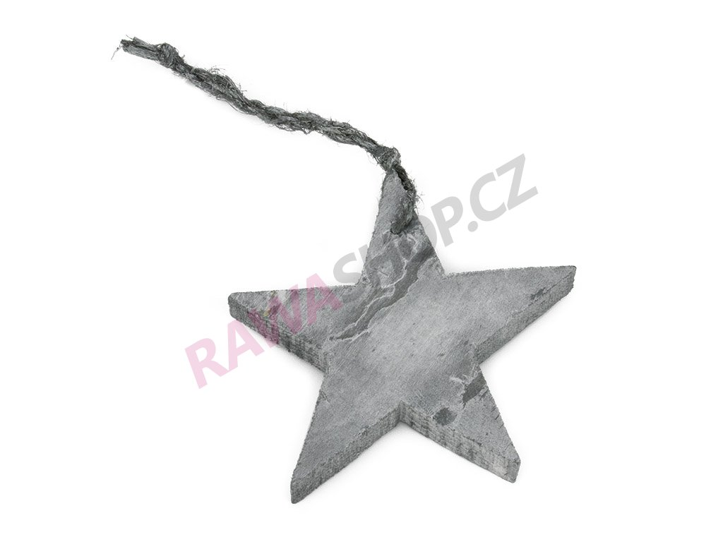 Hvězdička 8cm - šedá