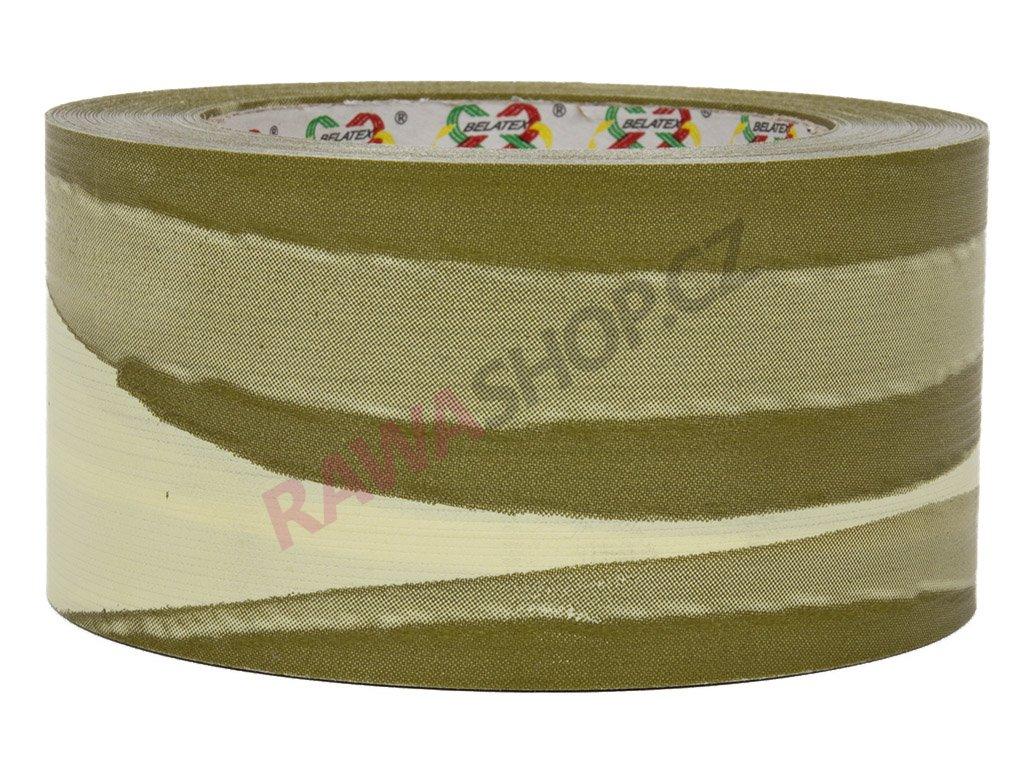 Smuteční stuha 6cm list - ecru-olivová