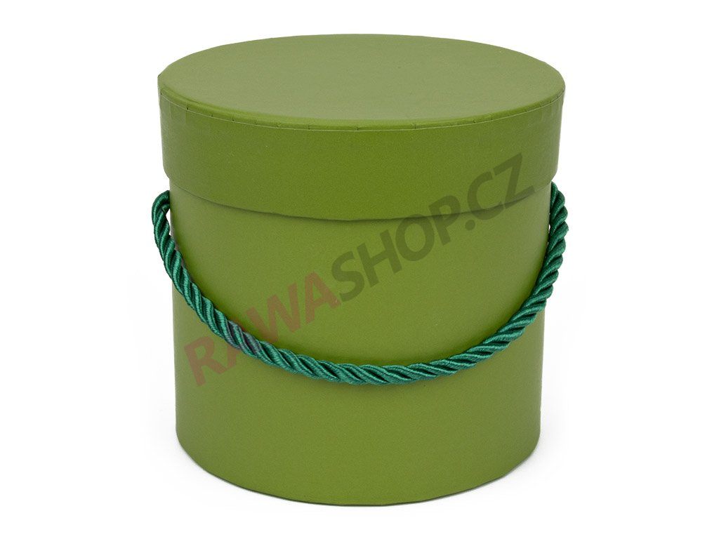 Flower box kulatý - green