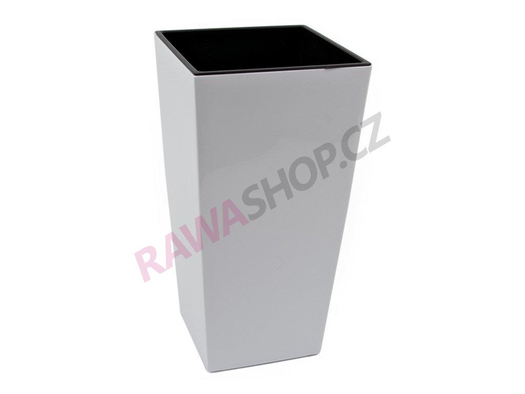 Plastový obal čtvercový 19cm - bílá