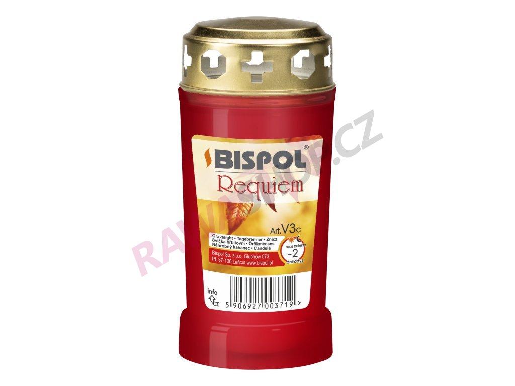 13. Parafínová svíčka se zlatým víčkem 18ks červená BPV3 030C