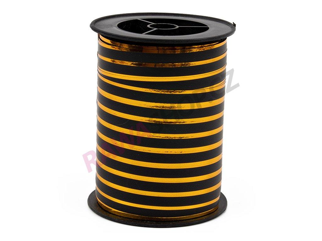 Smuteční stuha s proužkem 1cm - černá