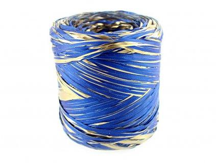 Produkt č. 188 12 Lýko RAF01 barva nr 18Z tmavě modrá se zlatem šířka 1 cm, délka 200 m