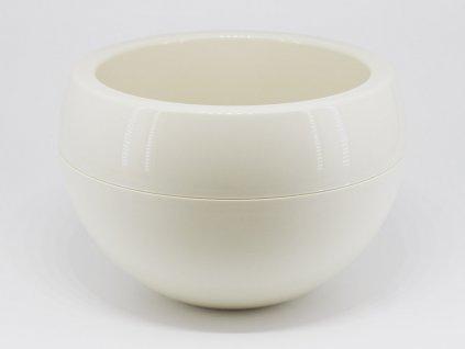 Plastový obal koule - krémová