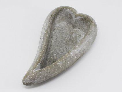 Betonová mistička - srdce 20x11