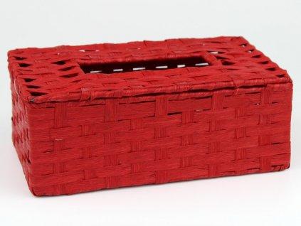 Dóza na kapesníky - červená