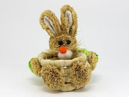 Košík zajíček - zelený
